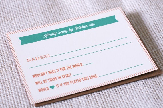 Personalised wedding invites with song requests