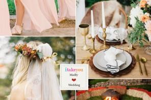 Peach wedding colour boho wedding palette   itakeyou.co.uk