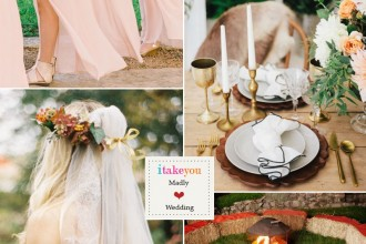 Peach wedding colour boho wedding palette | itakeyou.co.uk