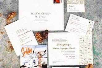 Winter postcard wedding invitation | itakeyou.co.uk
