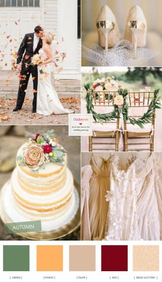 Soft Autumn Wedding Colour Palette