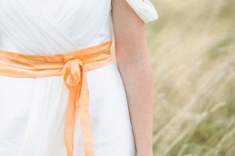 customized wedding dress | Personalized Wedding Dresses with orange ribbons