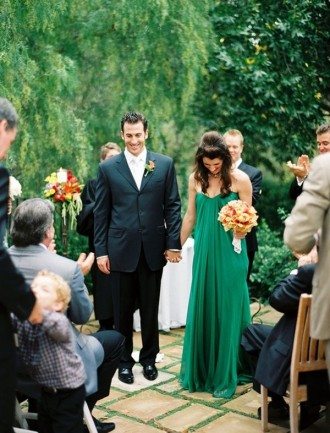 green wedding dress - - The Wedding Dress Color Decision,Which Wedding Dress Colours Are Right for You? | itakeyou.co.uk #weddingdress #weddinggown #wedding