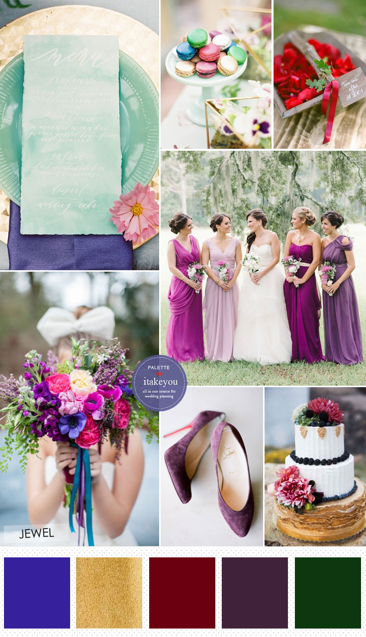 90ac8967a659 Jewel Tone Wedding theme   17 ideas to Use Jewel Tones