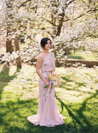 pink wedding dress - - The Wedding Dress Color Decision,Which Wedding Dress Colours Are Right for You? | itakeyou.co.uk #weddingdress #weddinggown #wedding