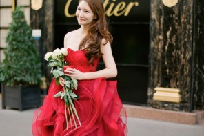 Red Wedding Dresses - The Wedding Dress Color Decision,Which Wedding Dress Colours Are Right for You?   itakeyou.co.uk #weddingdress #weddinggown #wedding