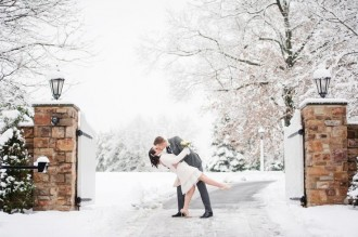 Short winter wedding gown | City hall wedding gown | itakeyou.co.uk: