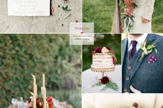 Navy blue Purple and Redwood for Autumn wedding | itakeyou.co.uk