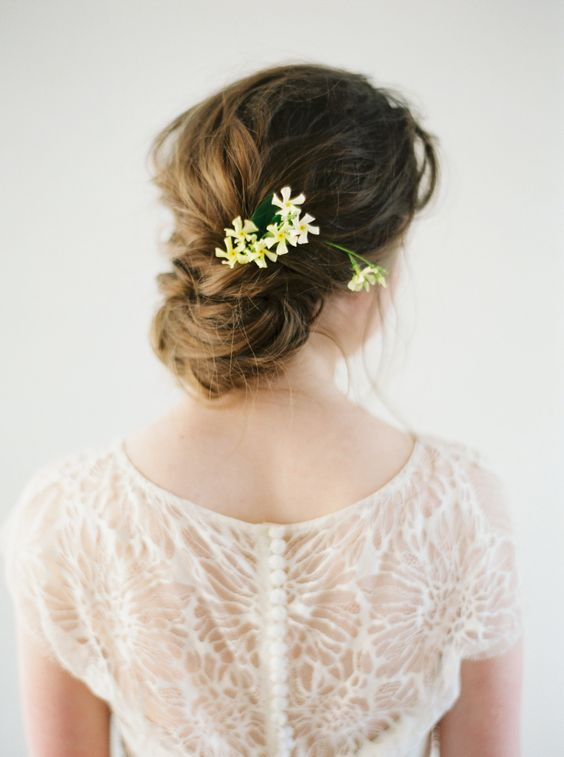 Wedding hairstyles updo with flowers