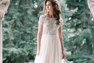 floaty wedding dress