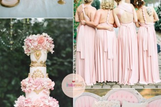 Shades of pink & Rose Quartz Wedding | itakeyou.co.uk