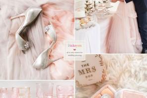 Rose Quartz Wedding colour  itakeyou.co.uk