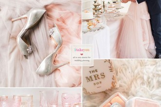 Rose Quartz Wedding colour| itakeyou.co.uk