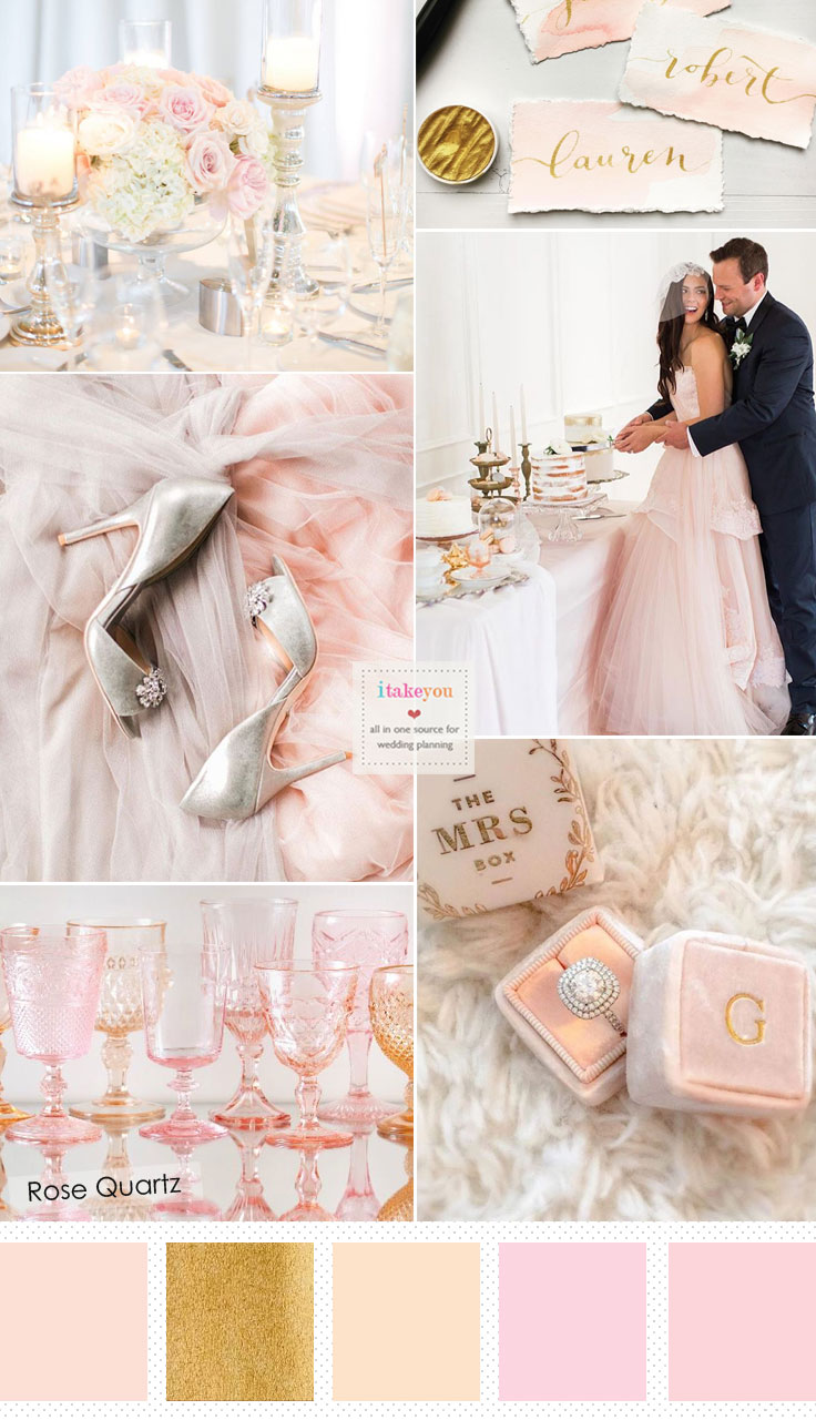 Rose Quartz Wedding Colour { Wedding Colour Trends 2016 }