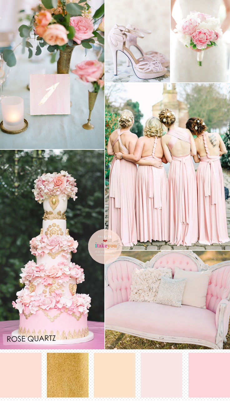 Rose Quartz Wedding Shades Of Pink Wedding