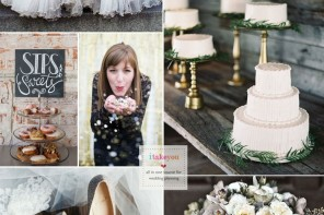 Gold Glittery and Frost winter wedding