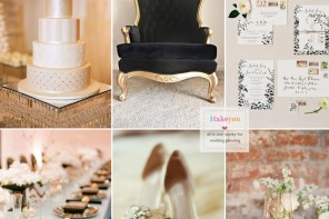 Champagne and black wedding theme