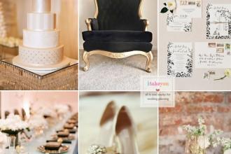 Champagne and black wedding theme