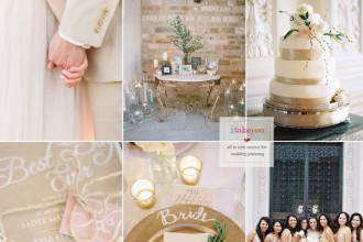 Champagne wedding colors schemes | itakeyou.co.uk