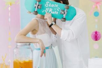 Modern Whimsical Wedding Inspiration Full of Colour (1)