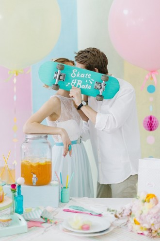 Modern Whimsical Wedding Inspiration Full of Colour (1)