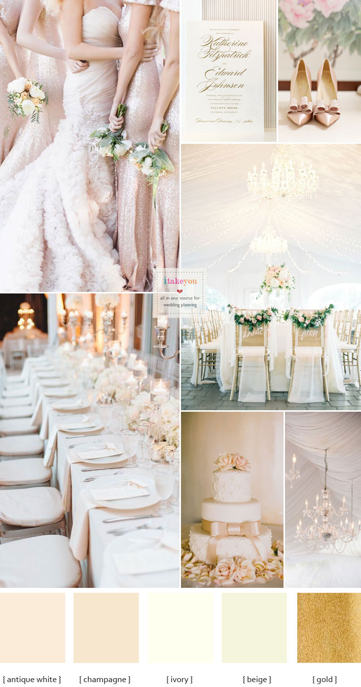 Champagne wedding colour scheme | champagne wedding colors | itakeyou.co.uk