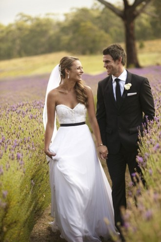 Suzanne Harward Wedding Dress for an outdoor rustic themed wedding