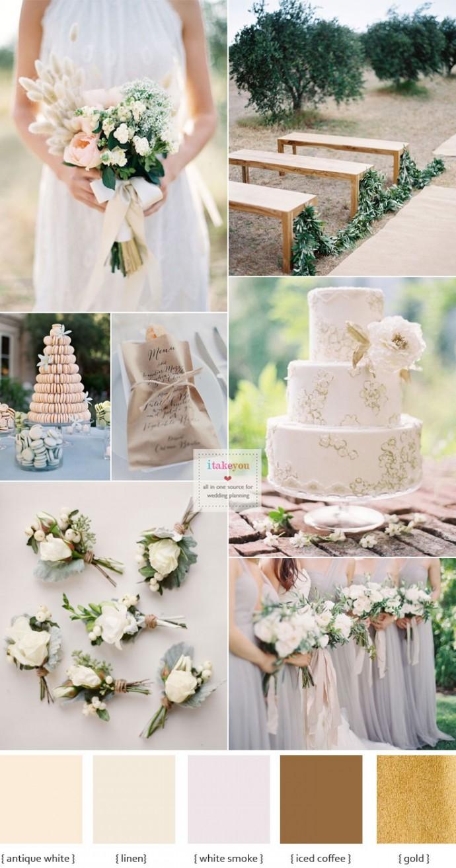 Organic #wedding inspiration - Wedding colour schemes | i take you