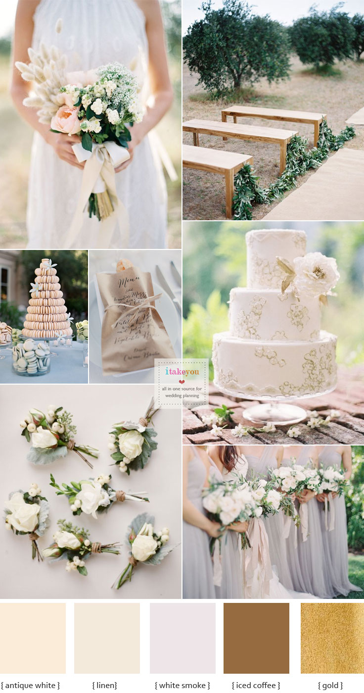 Organic #wedding inspiration - Wedding #colourschemes | i take you - wedding ideas
