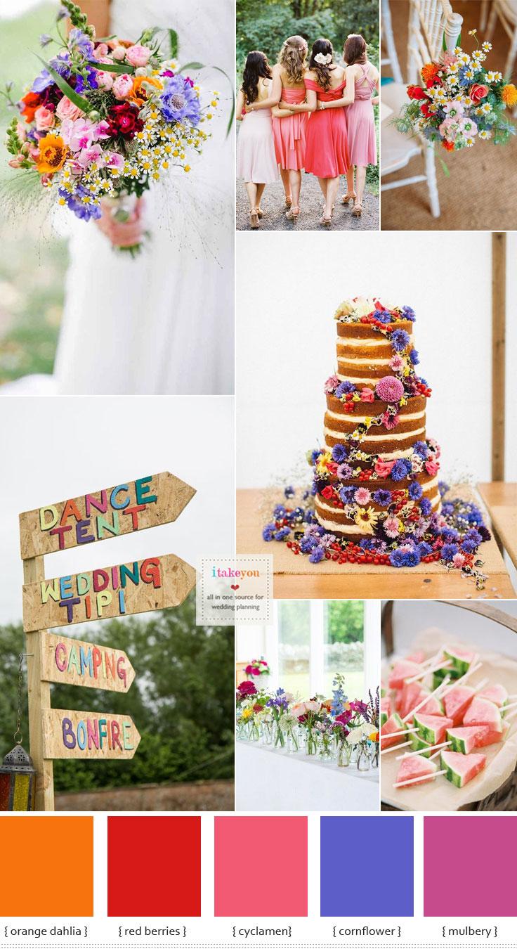 Summer Wedding Flowers In Season Bright Summer Wedding Ideas
