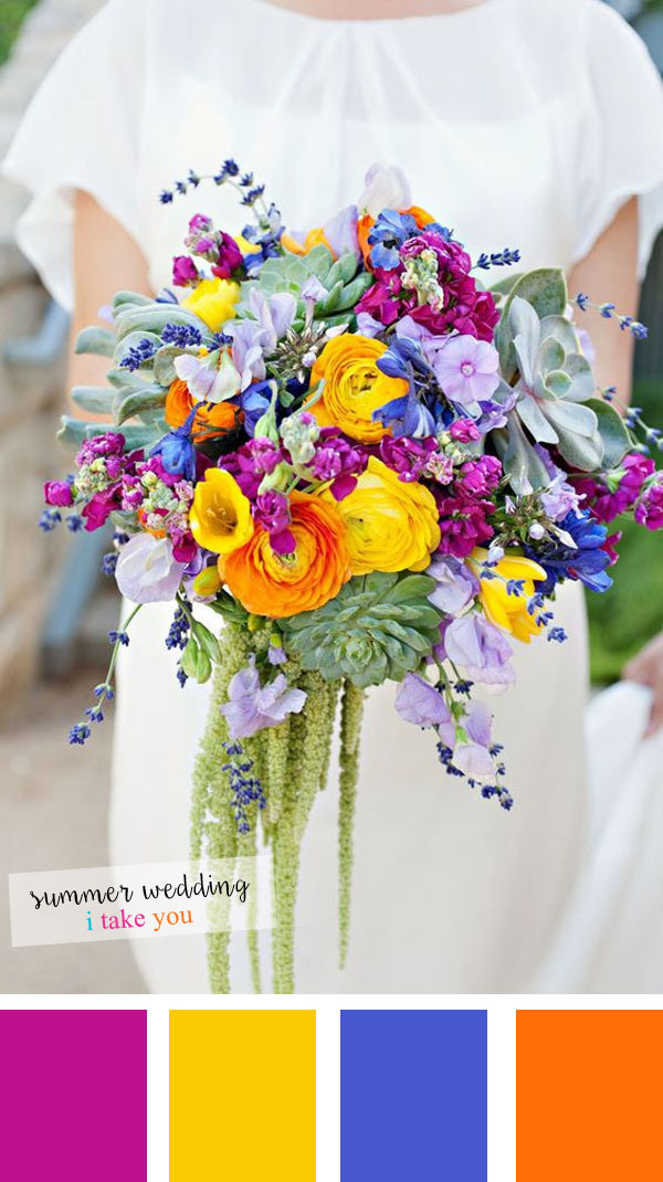 Summer Wedding Colours 5 Fresh Color Combinations For