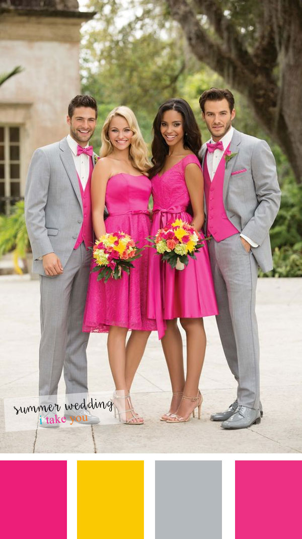 Summer wedding colours 5 fresh color combinations for for Spring wedding bridesmaid dress colors