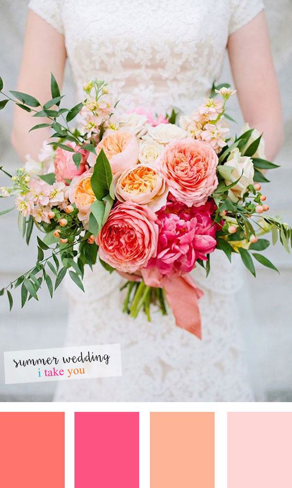 Summer wedding colours 5 fresh color combinations for for Summer wedding color combinations
