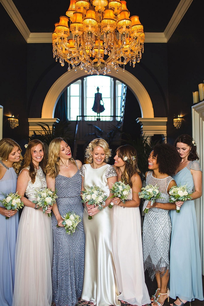 Johanna Johnson wedding dress + Mix matched bridesmaids dresses | itakeyou.co.uk