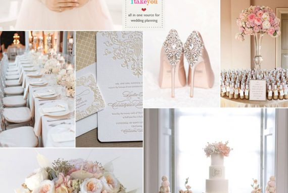Champagne color palette wedding