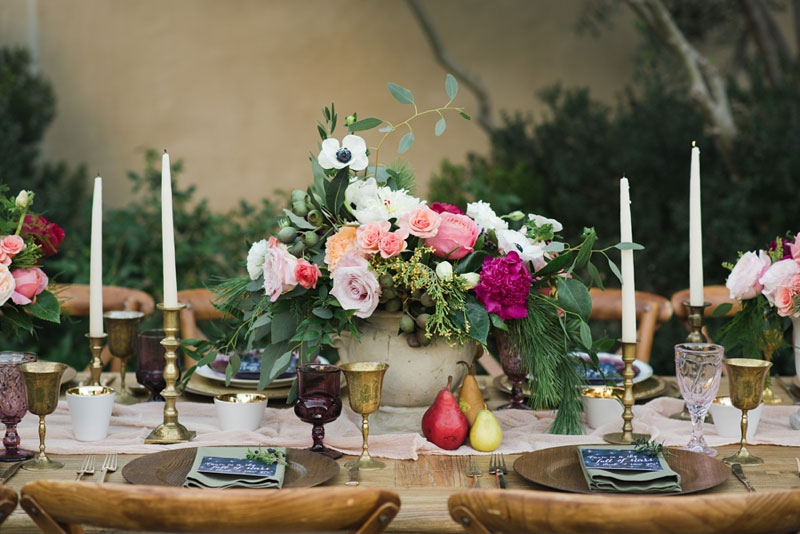 Wedding Table Decorations For Leanne Marshall Dress And Whimsical Flower Crown A
