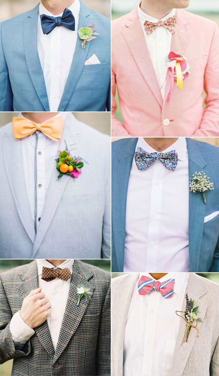 20 Wedding bow ties ideas for groom and groomsmen