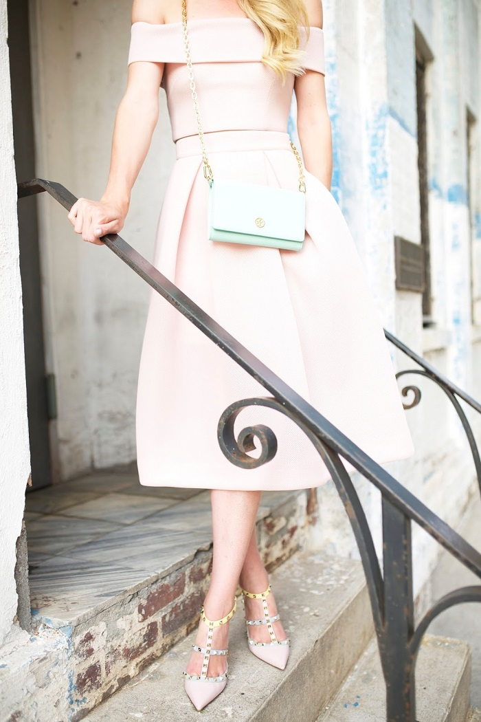 Super Feminine blush pink dress