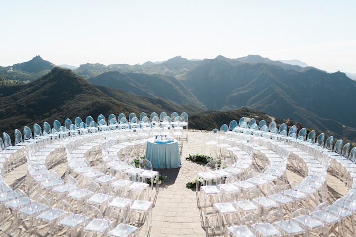 Wedding ceremony on helicopter pad