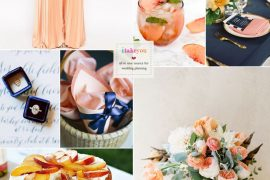 Navy blue and peach wedding colour theme ideas | i take you