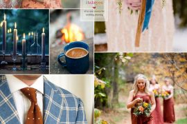 Brown ,Blue ,Mustard,Orange and Rust autumn colours wedding theme ideas | I take you