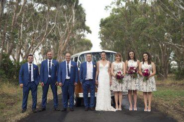 The bride wore Mariana Hardwick wedding dress + Printed bridesmaids dresses | itakeyou.co.uk | Onthree photography