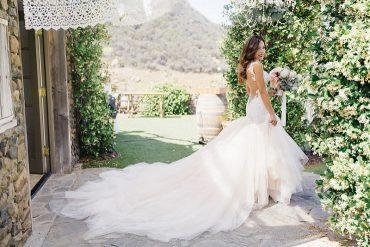 Cathedral Train, Sleeveless backless wedding dress