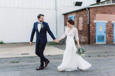 Helena Harfst Wedding Dress For A Backyard Romance + Subtle Elegant Wedding   I take you
