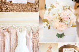 Blush sequin bridesmaid dresses For Elegant Blush and Gold Summer Wedding Inspiration | Itakeyou.co.uk #rosegold #blushwedding