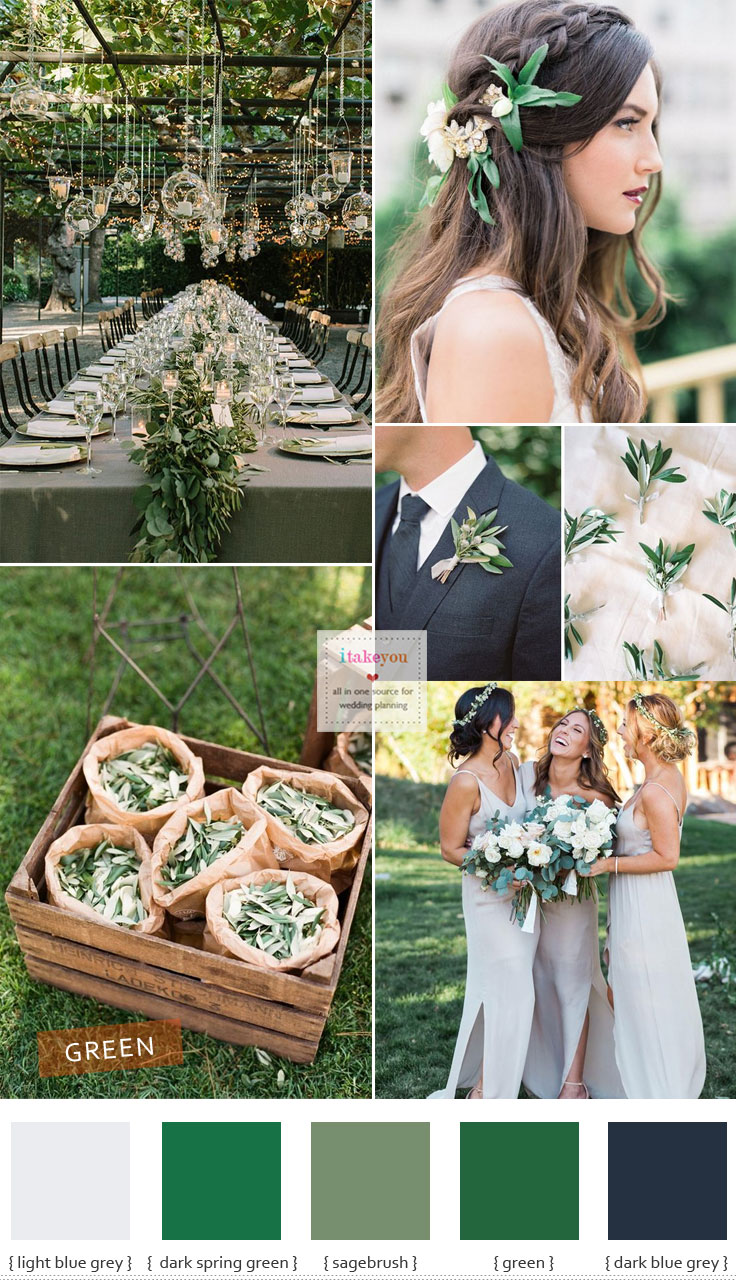 Green wedding theme ideas different shades of green for Ideas for your wedding