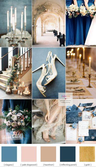 Blue and Gold Wedding Theme for Elegant Winter Wedding   itakeyou.co.uk #weddingtheme #elegantwedding #wedding