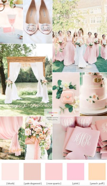 Blush pink wedding theme - blush pink wedding colour | itakeyou.co.uk #wedding #weddingcolour #weddingtheme #blush #pink #gardenwedding #springwedding