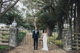 Intimate Rustic Chic wedding - Bride wears crochet laced wedding gown   itakeyou.co.uk #wedding #rustic #rusticwedding #barnwedding #vineyardwedding #realwedding #weddingphotos