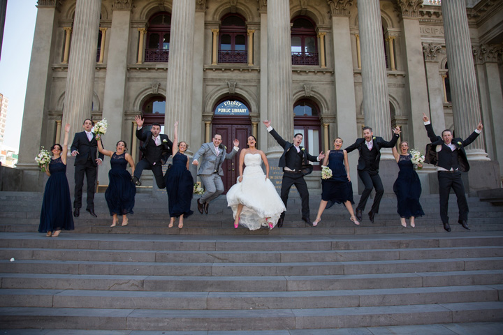 Navy blue bridesmaid dresses for a Classic White and Jewish Wedding in Melbourne | itakeyou.co.uk #bridesmaids #navybluewedding #jewishwedding #classicwedding